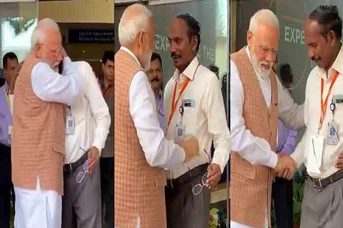 isro chief k sivan and pm narendra modi