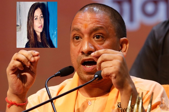 yogi adityanath knock down