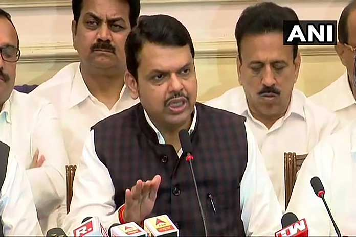 bjp rule crashes as devendra fadnavis submits resignation