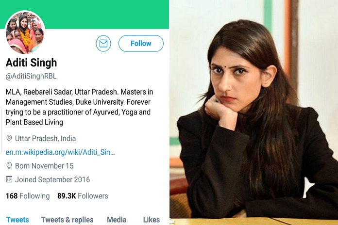 aditi singh twitter account