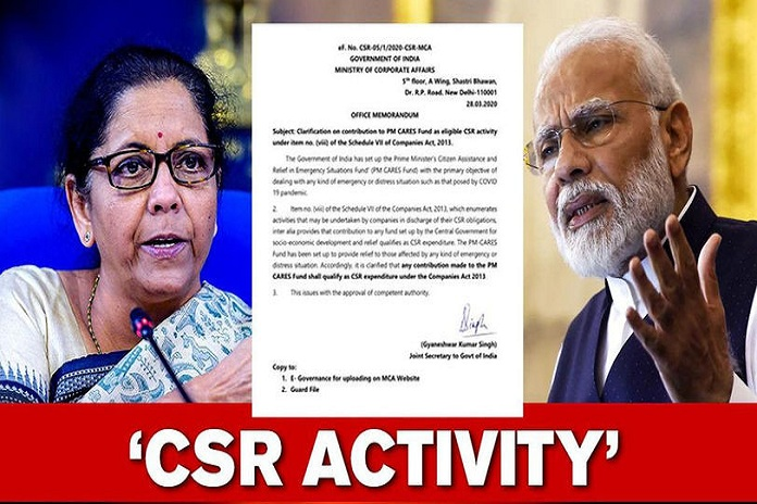 CSR AND PM CARE FUND