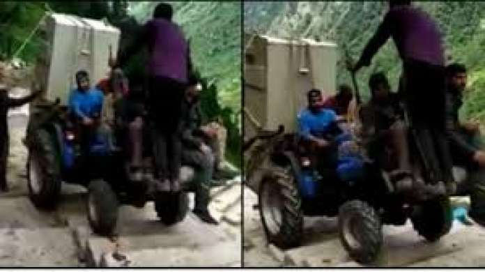 kedarnath tractor video viral