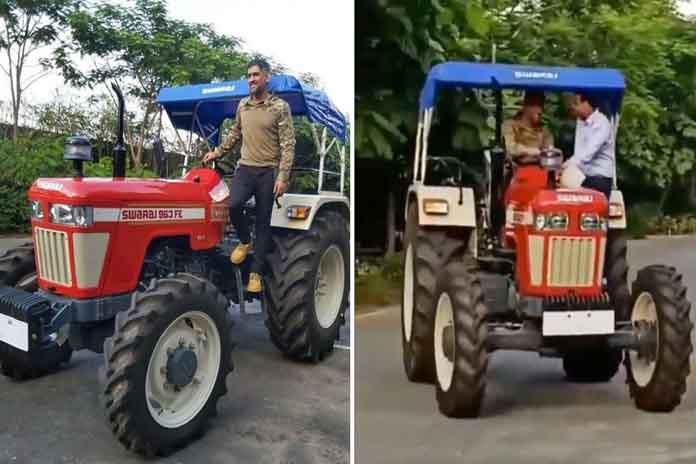 MS Dhoni Tractor Ride