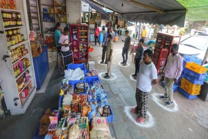 shopping in corona lockdown